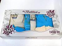 Подарочный набор халатов и полотенец, Bellina bukle 2 халата+ 4 полотенца + тапочки 2