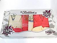 Набор халатов и полотенец, Bellina bukle 2 халата+ 4 полотенца + тапочки 3