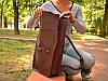 """Вместительный, авторский рюкзак на карабине из натуральной кожи """"Crazy Horse"""", фото 2"""