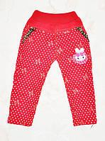 Детские красные брюки для девочки