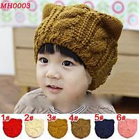 Детская вязанная шапка Cat