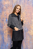 Серый кардиган-пальто Римма Arizzo 44-52 размеры