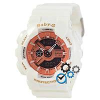 Стильные часы Baby-G, белые часы