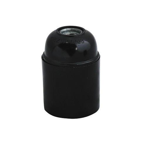 Патрон бакелит черный Е27