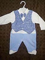 Человечек для Малыша джентельмен,Комбинезон для малыша нарядный Турция