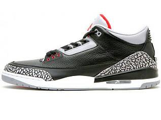 c9f6741ed09b Баскетбольные кроссовки Nike Air Jordan 3 Black Cement (Реплика ААА+)