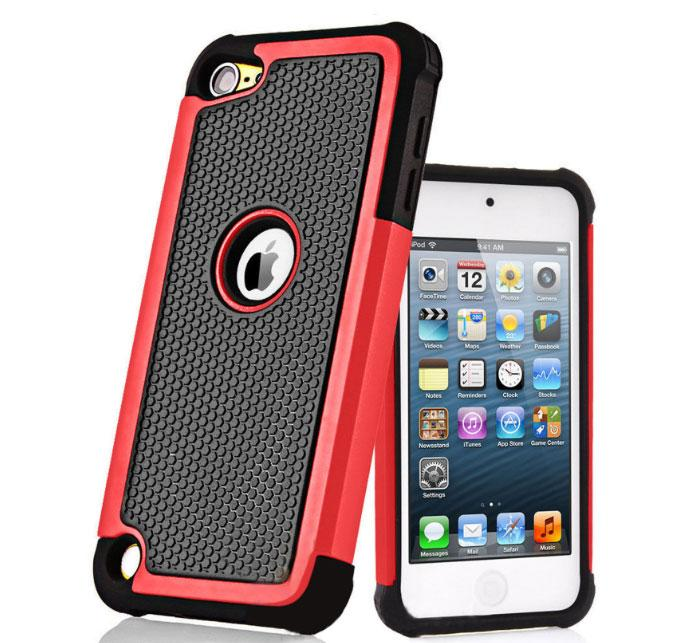 Чехол Silicon Splint для Apple iPod Touch 5 / 6 - Red