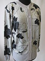 Женские светло-серые кофты с цветами., фото 1