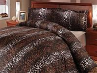 Постельный комплект HOBBY сатин-люкс Imperial евро коричневый