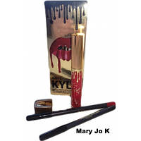 Жидкая матовая помада Kylie 4 в 1 (жидкая помада, два карандаша и точилка) (поштучно)(Mary Jo K)