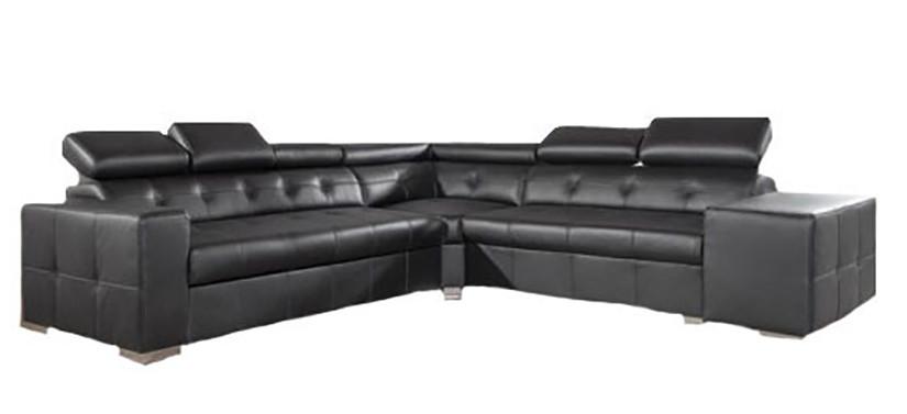 Стильный кожаный угловой диван - Etna De Lux (250х170 см)