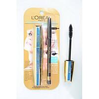 Тушь для ресниц Loreal Million lashes + карандаш