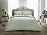 Летний набор постельного белья TIVOLYO HOME Punto Бирюзовый евро