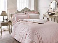 Летний набор постельного белья TIVOLYO HOME Punto Пудра евро