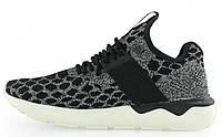 Мужские кроссовки Adidas Tubular Runner (Адидас Тубулар) черные/серые