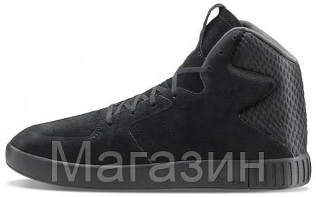Мужские высокие кроссовки Adidas Originals Tubular Invader Адидас Тубулар черные, фото 2
