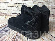 Мужские высокие кроссовки Adidas Originals Tubular Invader Адидас Тубулар черные, фото 3