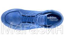 Мужские высокие кроссовки Adidas Originals Tubular Invader Адидас Тубулар синие, фото 2