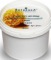 Cахарная паста для шугаринга ТМ ЯнтарикА Средняя с мёдом 500 грамм