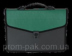 Портфель на 2 отделения, В4, зеленый