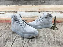 Мужские высокие кроссовки Adidas Originals Tubular Invader Grey Адидас Тубулар серые, фото 3