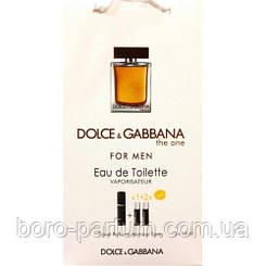 Туалетная вода с феромонами Dolce&Gabbana The One for men 3х15 мл.