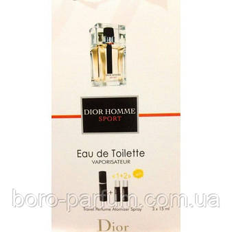 туалетная вода с феромонами Dior Homme Sport 3х15 мл продажа цена