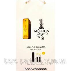 Туалетная вода с феромонами Paco Rabanne 1 Million 3х15 мл.
