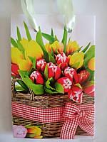 Пакет подарочный бумажный мини 8х13х4 (20-036)