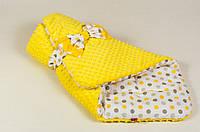 """Конверт - одеяло на выписку демисезонный """"Солнышко"""" желтый, 80 х 85см"""