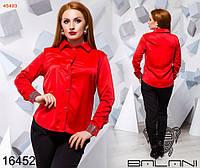 Блуза №45495 в больших размерах в расцветках