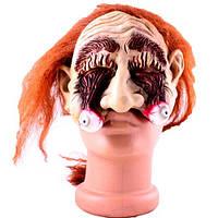 Страшная маска с выпавшими глазами на Хэллоуин
