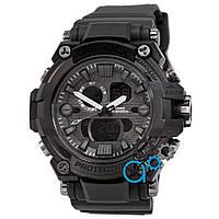 Повседневные черные часы casio g-shock, часы касио