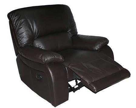 Мягкое кожаное кресло ALASKA. Реклайнер (98 см), фото 2