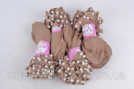 Носки женские капроновые с бусинками Бежевый  (C239/BG/2000) | 2000 пар, фото 2