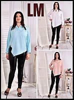 От 42 по 74р Красивая блузка 770580 женская белая батал большого размера деловая осенняя весенняя