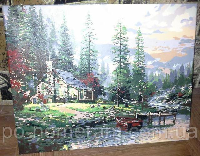 Картина по номерам Охотничий домик - отзыв и фото