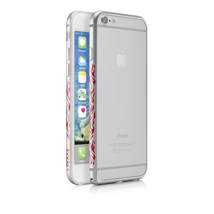 Чехол-бампер для Apple iPhone 6 Plus - iBacks Flame серебристый