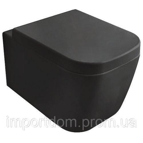 Унитаз подвесной Globo Stone SSS03 черный