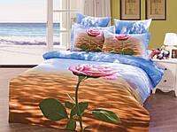 Комлект постельного белья ARYA друкований Сатин 3D Exclusive Foggy Sea