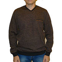 Плотный коричневый свитер Caporicco (Турция) с вырезом мыс