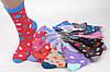 Женские носки цветные с узором (YB02/480) | 480 пар