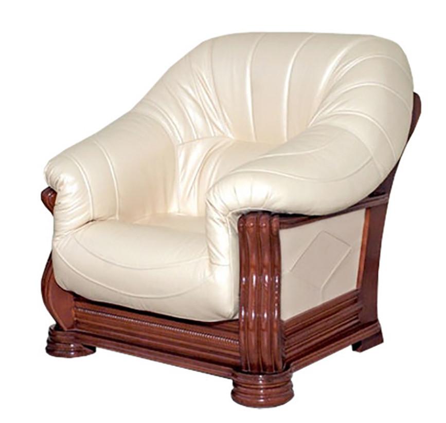 Класичне шкіряне крісло Монарх (105 см)