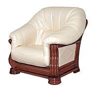 Классическое кожаное кресло Монарх (105 см)
