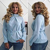 Блузка с украшением батал, фото 3