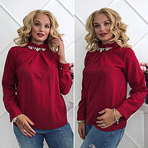 Блузка с украшением батал, фото 2