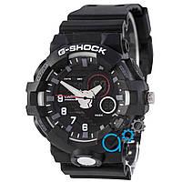 Черные с белым часы casio g-shock, часы касио