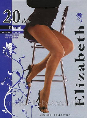 Колготки Elizabeth 20 den t-band Mocca р.2 (00115/50) | 50 шт., фото 2