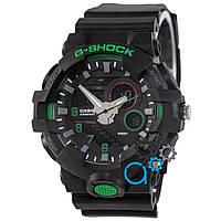 Черные с зеленым часы casio g-shock, часы касио