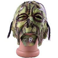 Страшная зеленая маска на Хэллоуин